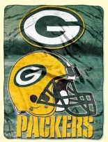 Twin NFL Packers Raschel Blanket