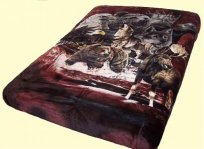 Luxury Signature Alaskan Animals Mink Blanket