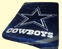 Queen NFL Cowboys Royal Plush Mink Blanket