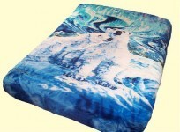 Luxury Signature Polar Bears Mink Blanket