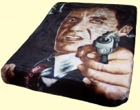Luxury Queen Scarface Respect Gun Mink Blanket