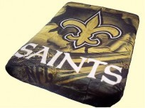 Twin NFL Saints Mink Blanket
