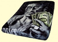 Luxury Queen Scarface Hustler $$$ Mink Blanket