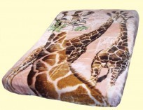 Luxury Queen Giraffe Mink Blanket