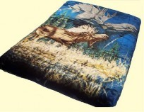 Luxury Queen Moose Mink Blanket