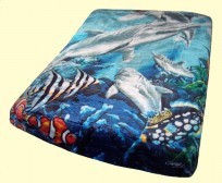 Luxury Queen Tropical Sealife Mink Blanket
