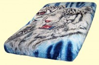 Luxury Queen Signature Collection White Tigers Mink Blanket