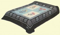 Solaron King Black Floral Mink Blanket