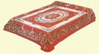 King Solaron Red Flower, Floral Mink Blanket