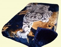 Solaron Two-Ply King Crouching Tiger Hunter GreenMink Blanket