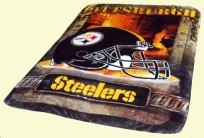 Steelers Twin Royal Plush Blanket