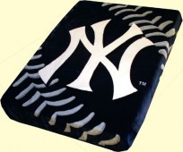 Twin Yankees Mink Blanket