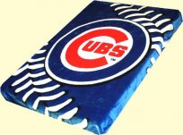 Twin Chicago Cubs Mink Blanket