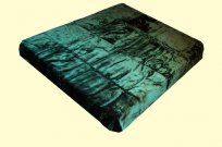 Solaron King Solid Hunter Green Mink Blanket