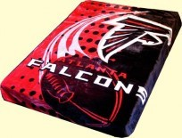 Twin NFL Falcons Mink Blanket