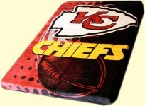 Twin NFL Chiefs Mink Blanket