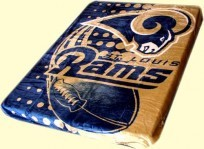 Twin NFL Rams Mink Blanket