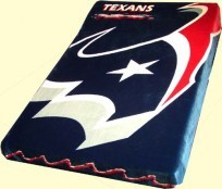 Twin NFL Texans Mink Blanket