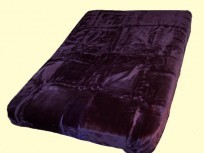 King Solaron Solid Purple Mink Blanket