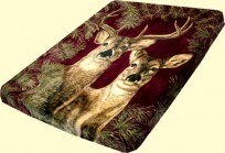 Solaron Queen Buck and Doe Mink Blanket