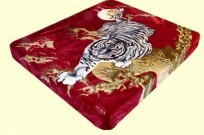 Solaron Twin/Full Crouching Tiger Mink Blanket