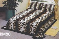 Solaron Cheetah 3PC Mink Blanket Set