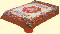 King Solaron Floral Botique Mink Blanket