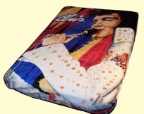 Twin/Full Elvis Mink Blanket