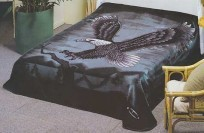 Queen Solaron Eagle Mink Blanket (V)