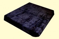 Solaron Twin/Full Solid Black Mink Blanket