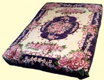 Solaron Queen Floral Botique Mink Blanket
