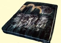 Solaron King Wolves Mink Blanket