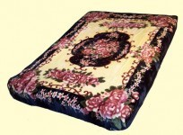 Solaron King Floral Botique Mink Blanket