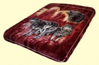 Solaron Queen Wolves Mink Blanket
