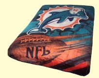 Twin NFL Dolphins Mink Blanket