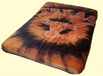 Twin NCAA Longhorns Mink Blanket