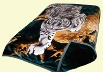 Solaron King Two-Ply Crouching Tiger Mink Blanket