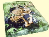 Signature Queen Wild Deer Mink Blanket