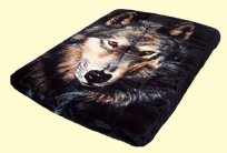 Luxury Queen S. Wolves Mink Blanket