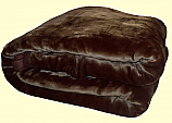 Wonu Safari King Two-Ply Chocolate Brown Mink Blanket