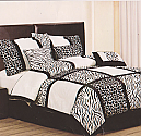 Luxury Zebra Comforter 7PC Set