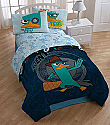 Disney Perry Platypus Twin 4PC Bedding/Comforter Set