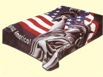 Solaron Queen Statue of Liberty Mink Blanket