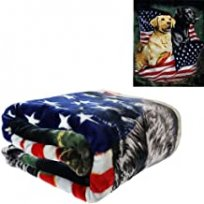 Signature Patriotic Dogs Mink Blanket