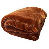 Wonu King Two-Ply Caramel Brown Mink Blanket