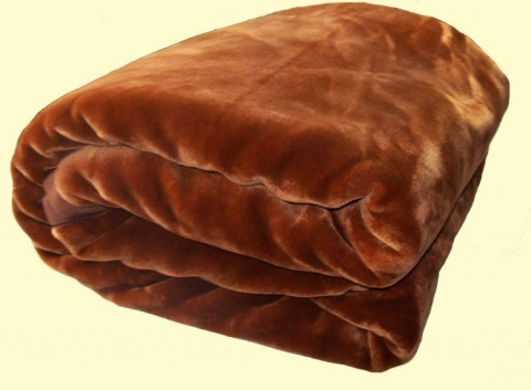 Two-Ply Caramel Brown Blanket