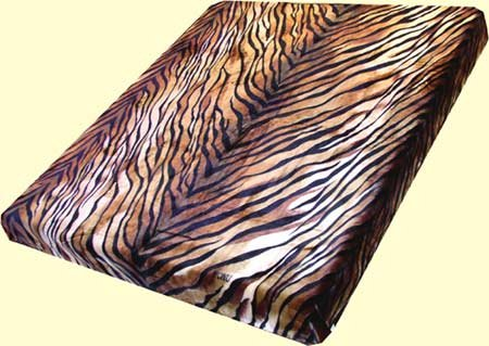 Queen Trix Heavyweight Tiger Stripes Mink Blanket