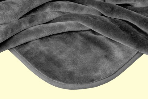 Solaron King Solid Grey Mink Blanket