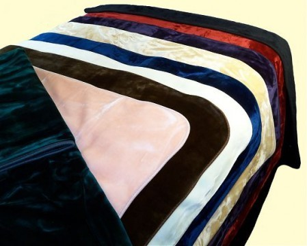 Solaron King Solid Navy Blue Mink Blanket