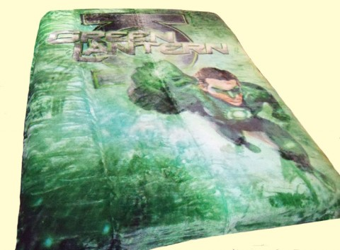 Twin Green Lantern Royal Plush Mink Blanket